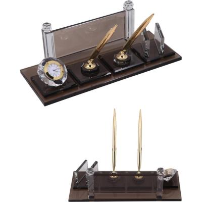 Kristal Vip Masa Seti Dolma & Tükenmez Kalem Gold 4190